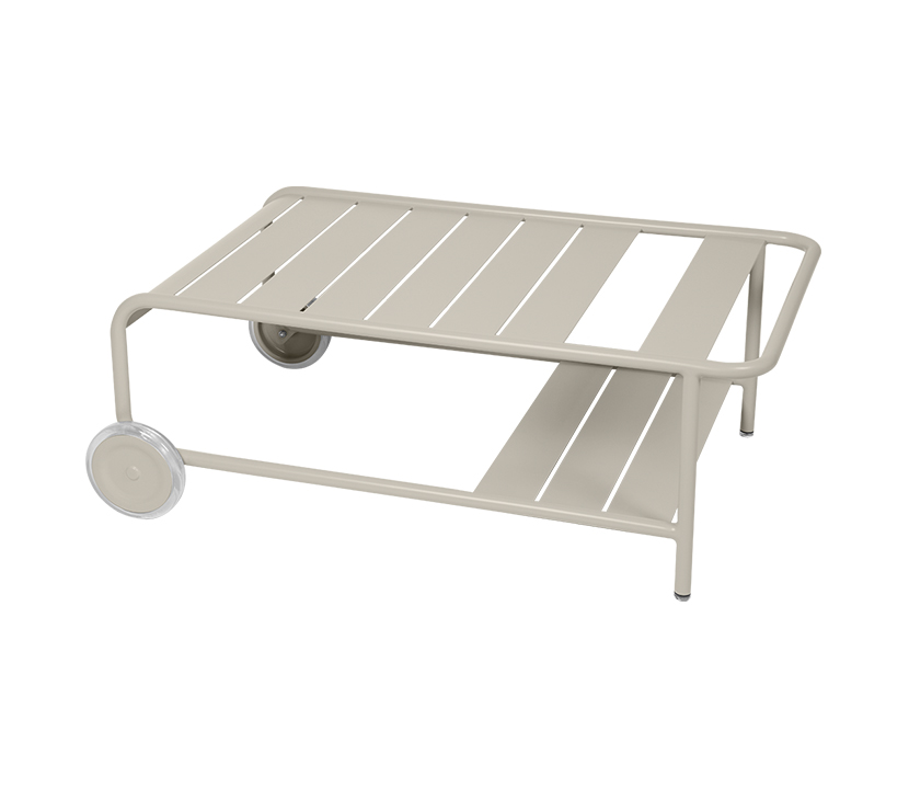 Fermob_Luxembourg Low Table with Casters_Gallery Image 23_Clay Gray