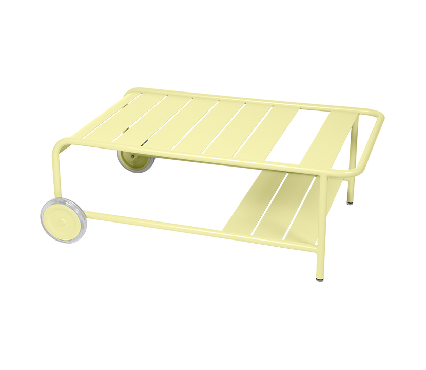 Fermob_Luxembourg Low Table with Casters_Gallery Image 24_Frosted Lemon