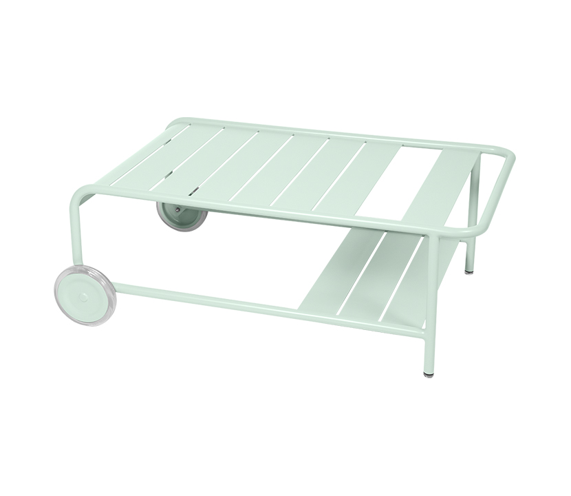 Fermob_Luxembourg Low Table with Casters_Gallery Image 25_Ice Mint