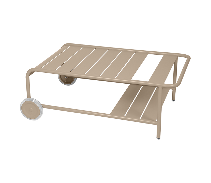 Fermob_Luxembourg Low Table with Casters_Gallery Image 4_Nutmeg
