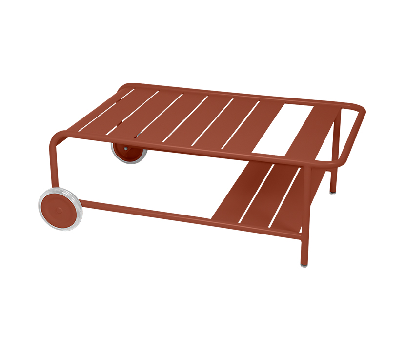 Fermob_Luxembourg Low Table with Casters_Gallery Image 6_Red Ochre