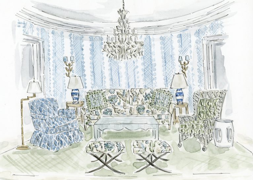 Kravet_Lee Jofa_Avondale Collection Sketch_Main Image