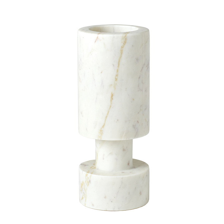 Luc Vase White Marble Gallery Image