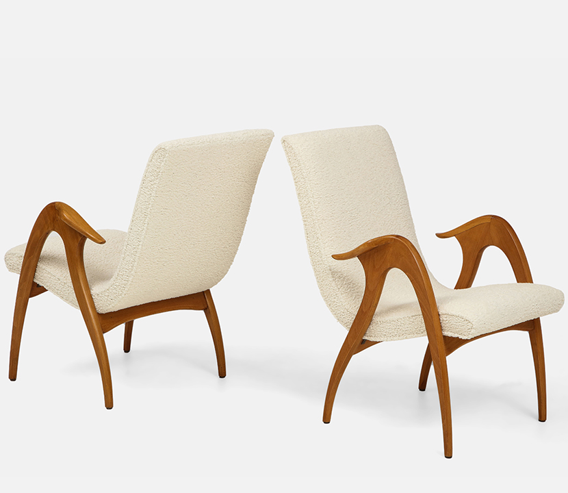 Pair of Sculptural Armchairs Gallery Image 2
