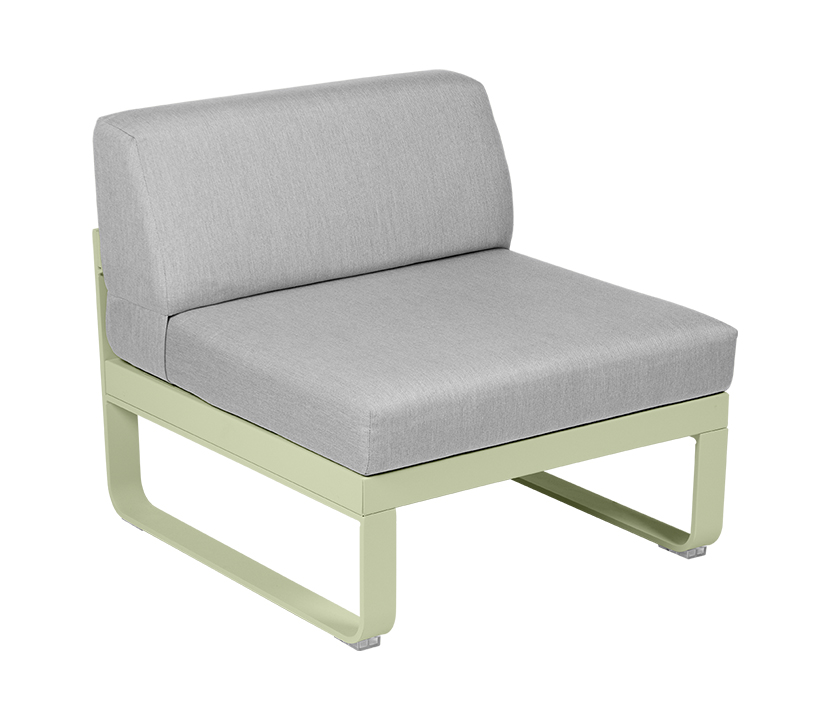 Central Module 1 Seater_Flannel Grey_Willow Green