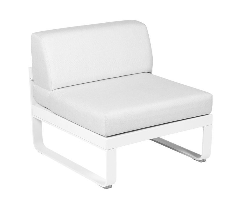 Central Module 1 Seater_Off White_Cotton
