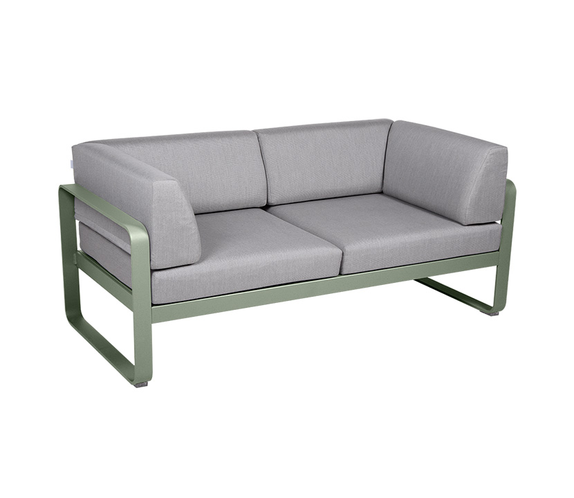 Fermob_Bellevie Canape Club 2 SSeater Flannel Grey_Gallery Image 12_Cactus