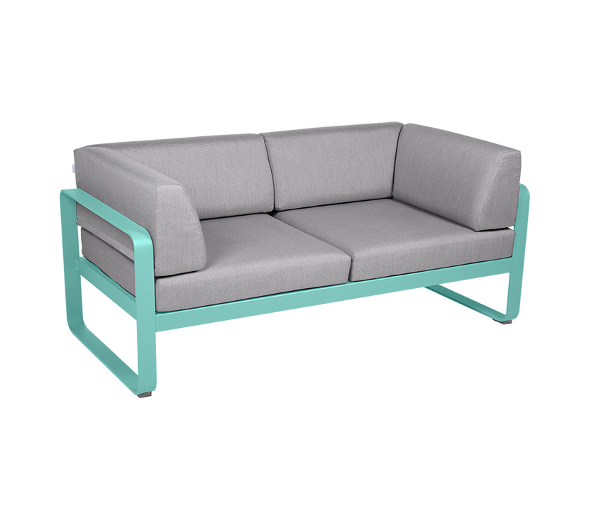 Fermob_Bellevie Canape Club 2 SSeater Flannel Grey_Gallery Image 14_Lagoon Blue