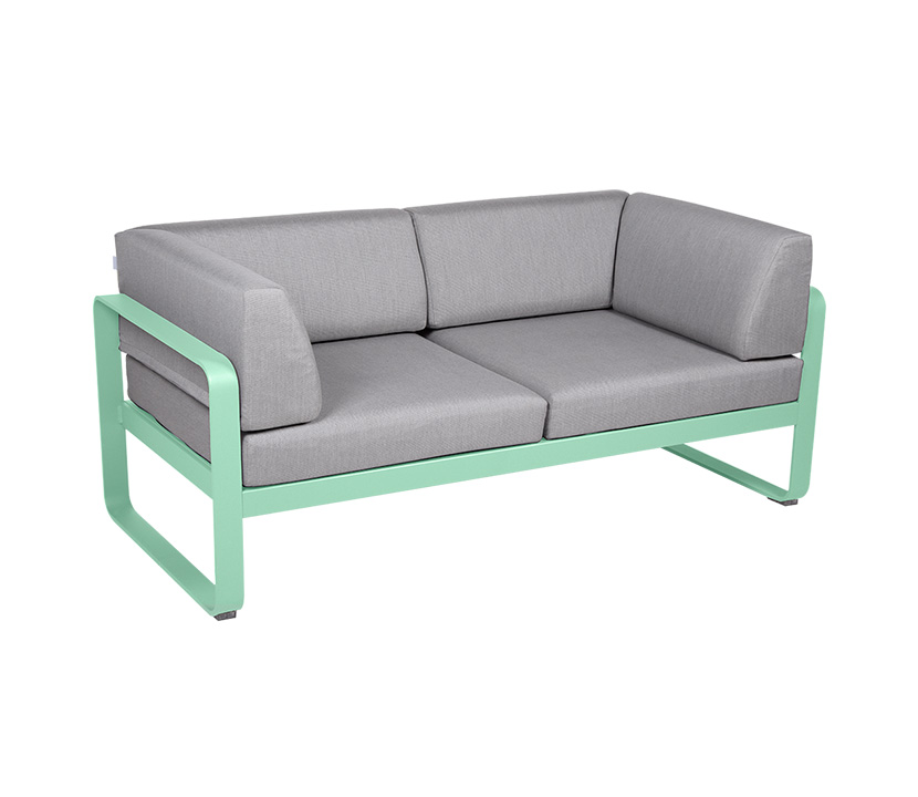 Fermob_Bellevie Canape Club 2 SSeater Flannel Grey_Gallery Image 1_Opaline Green
