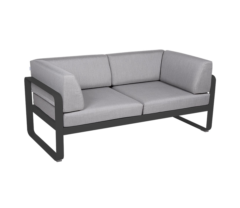 Fermob_Bellevie Canape Club 2 SSeater Flannel Grey_Gallery Image 20_Anthracite