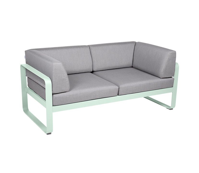 Fermob_Bellevie Canape Club 2 SSeater Flannel Grey_Gallery Image 24_Ice Mint
