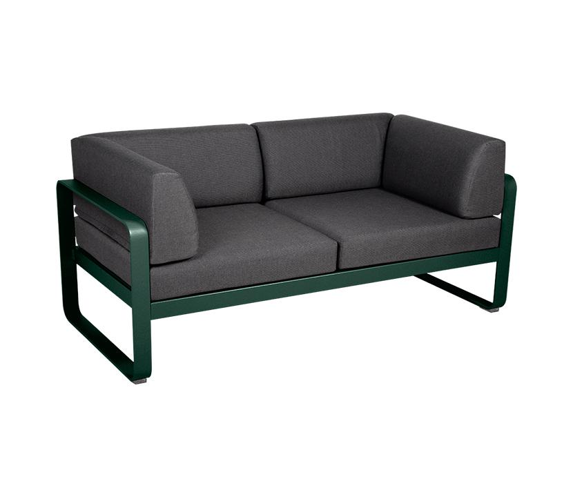 Fermob_Bellevie Canape Club 2 Seater Graphite Grey_Gallery 1_Cedar Green