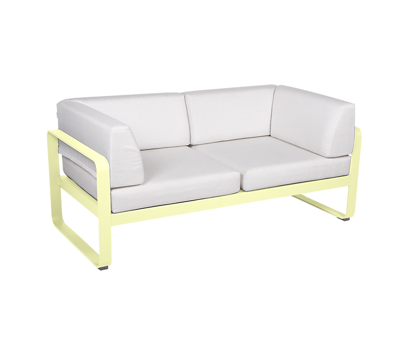 Fermob_Bellevie Canape Club 2 Seater Off White_Gallery 1_Frosted Lemon