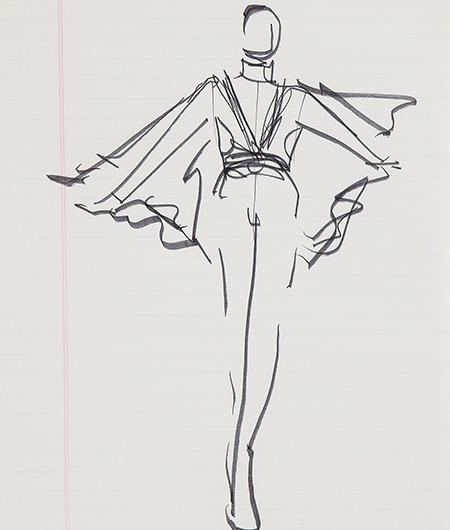 Guy Regal_Halston Sketches_Sketch 1