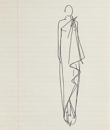 Guy Regal_Halston Sketches_Sketch 2