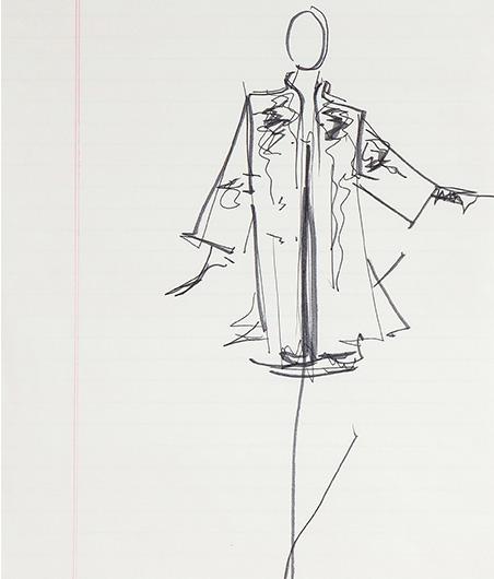 Guy Regal_Halston Sketches_Sketch 3