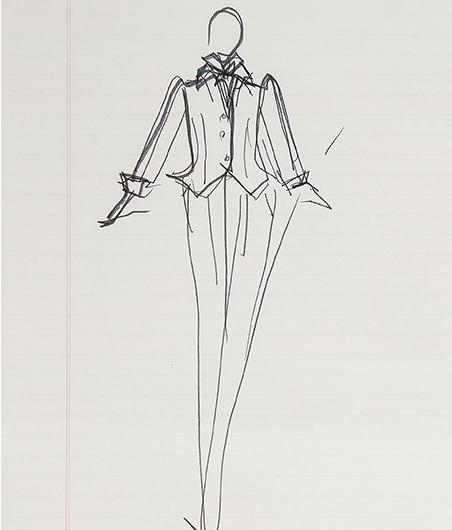 Guy Regal_Halston Sketches_Sketch 4