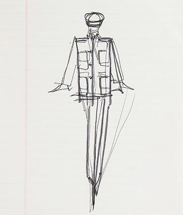 Guy Regal_Halston Sketches_Sketch 5