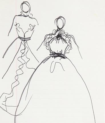 Guy Regal_Halston Sketches_Sketch 6