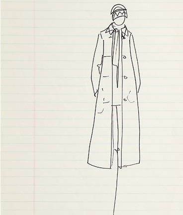 Guy Regal_Halston Sketches_Sketch 7