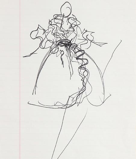 Guy Regal_Halston Sketches_Sketch 8