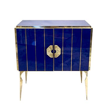 Cosulich Interiors & Antiques_Italian Royal Blue Glass Cabinet