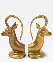 The Gallery at 200 Lex_Aged Brass Ibex Bookends_Thumbnail