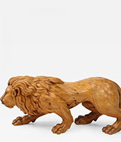 The Gallery at 200 Lex_Carved Wood Lion Sculpture_Thumbnail