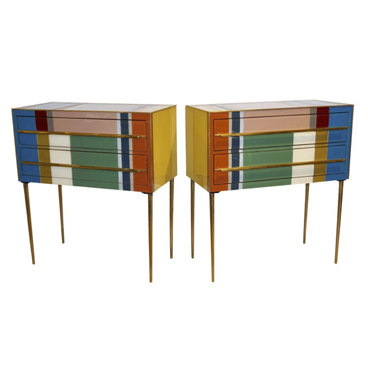 Cosulich_Mondrian Style End Tables